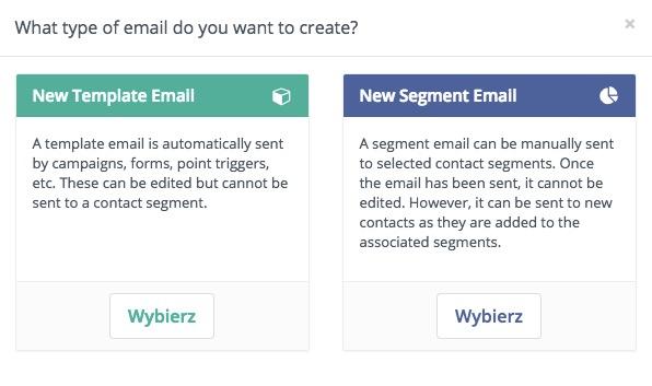Typy e-maili w Mautic