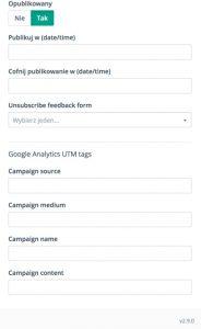 UTM Tags w Mautic 2.9 - jak dostosować do Googla ?